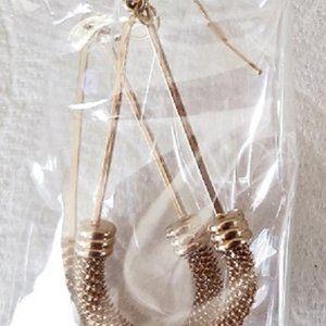 Gold Metals Earrings Pairs - NIBs Lot of 2